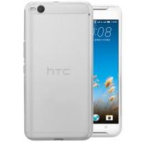 Силиконовый матовый полупрозрачный чехол для HTC One X9 Белый