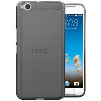 Силиконовый матовый полупрозрачный чехол для HTC One X9 Серый