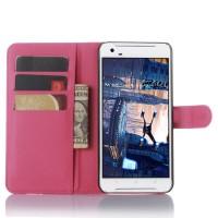 Чехол портмоне подставка с защелкой для HTC One X9 Пурпурный