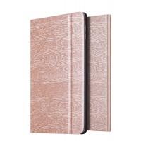 Чехол подставка на поликарбонатной основе текстура Дерево для Ipad Mini 4 Бежевый
