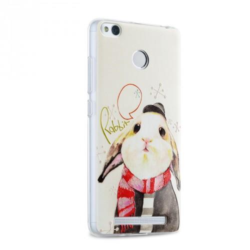 Силиконовый дизайнерский чехол с с объемно-рельефным принтом для Xiaomi RedMi 3 Pro/3S