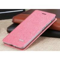 Чехол флип подставка на силиконовой основе текстура Соты для Xiaomi RedMi 3 Pro/3S Розовый