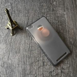 Силиконовый матовый полупрозрачный чехол для Xiaomi RedMi 3 Pro/3S Черный