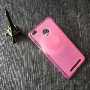 Силиконовый матовый полупрозрачный чехол для Xiaomi RedMi 3 Pro/3S Розовый