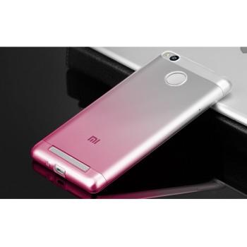 Силиконовый градиентный полупрозрачный чехол для Xiaomi RedMi 3 Pro/3S