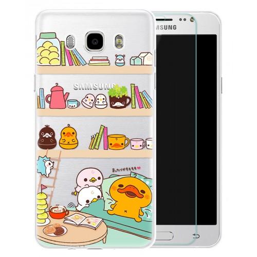 Силиконовый дизайнерский чехол с принтом для Samsung Galaxy J7 (2016)