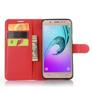 Чехол портмоне подставка на силиконовой основе с магнитной защелкой для Samsung Galaxy J7 (2016)