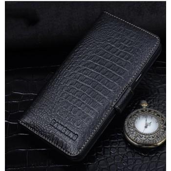 Кожаный чехол портмоне (нат. кожа крокодила) с магнитной защелкой для Samsung Galaxy J7 (2016)