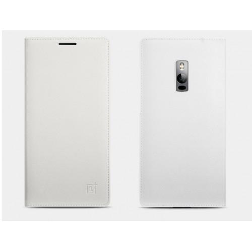 Оригинальный чехол смарт флип на пластиковой встраиваемой основе с отделением для карт для OnePlus 2