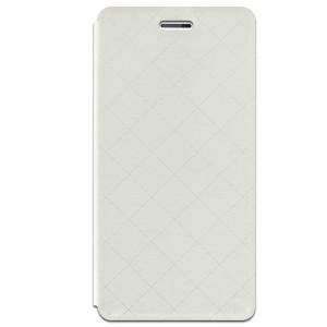 Чехол флип подставка на силиконовой основе с отделением для карт текстура Клетка для HTC One X9 Белый