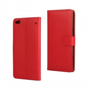 Чехол портмоне подставка с защелкой для HTC One X9 Красный