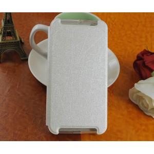 Чехол флип подставка на силиконовой основе текстура Линии для HTC One X9