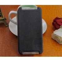 Чехол флип подставка на силиконовой основе текстура Линии для HTC One X9 Черный