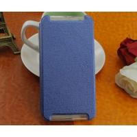 Чехол флип подставка на силиконовой основе текстура Линии для HTC One X9 Синий