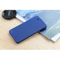 Чехол смарт флип текстура Точки с функциями оповещения для HTC One X9 Синий