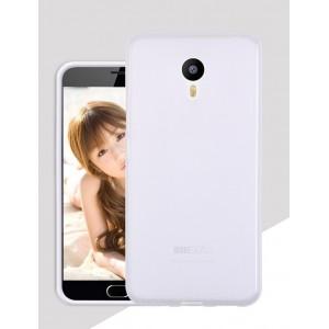 Силиконовый матовый полупрозрачный чехол для Meizu M3 Note Белый