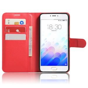 Чехол портмоне подставка с защелкой для Meizu M3 Note Красный