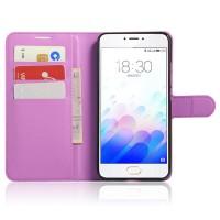 Чехол портмоне подставка с защелкой для Meizu M3 Note Фиолетовый
