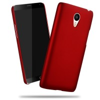 Пластиковый матовый непрозрачный чехол для Meizu M3 Note Красный