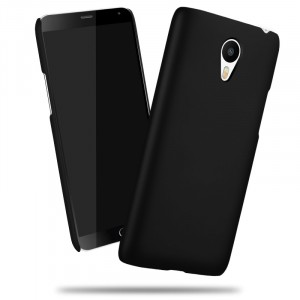 Пластиковый матовый непрозрачный чехол для Meizu M3 Note Черный