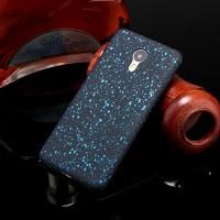 Пластиковый матовый дизайнерский чехол с голографическим принтом Звезды для Meizu M3 Note Голубой