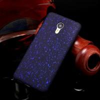 Пластиковый матовый дизайнерский чехол с голографическим принтом Звезды для Meizu M3 Note Синий