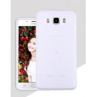 Силиконовый матовый полупрозрачный чехол для Samsung Galaxy J7 (2016) Белый