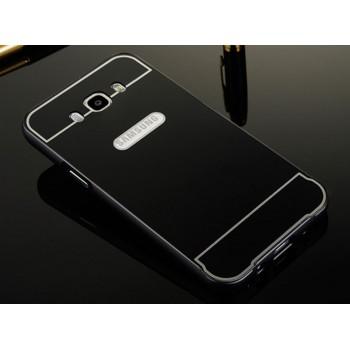 Двухкомпонентный чехол с металлическим бампером и поликарбонатной накладкой для Samsung Galaxy J7 (2016)