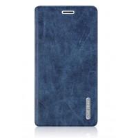 Винтажный чехол флип подставка на присоске с отделением для карты для Samsung Galaxy J7 (2016) Синий
