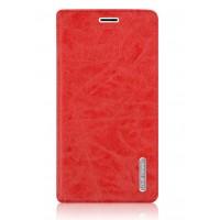 Винтажный чехол флип подставка на присоске с отделением для карты для Samsung Galaxy J7 (2016) Красный