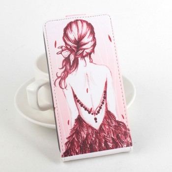 Дизайнерский чехол вертикальная книжка на силиконовой основе с полноповерхностным принтом и застежкой для LG K4