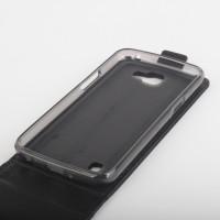 Чехол вертикальная книжка на силиконовой основе с магнитной застежкой и отделением для карт для LG K4 Черный