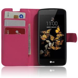 Чехол портмоне подставка с защелкой для LG K8 Пурпурный