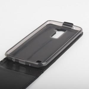 Глянцевый чехол вертикальная книжка на силиконовой основе с магнитной застежкой для LG K8