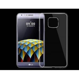 Силиконовый глянцевый транспарентный чехол для LG X cam