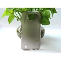 Силиконовый матовый полупрозрачный чехол для LG X cam Серый