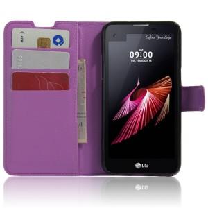 Чехол портмоне подставка с защелкой для LG X view Фиолетовый