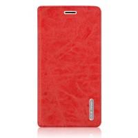 Винтажный чехол флип подставка на присоске с отделением для карты для Samsung Galaxy J5 (2016) Красный