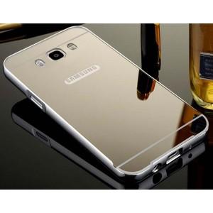 Гибридный металлический двухкомпонентный чехол и поликарбонатной крышкой с зеркальным покрытием для Samsung Galaxy J5 (2016) Серый