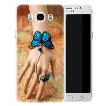 Силиконовый матовый дизайнерский чехол с эксклюзивной серией принтов для Samsung Galaxy J5 (2016)