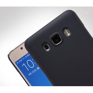 Пластиковый матовый нескользящий премиум чехол для Samsung Galaxy J5 (2016) Черный
