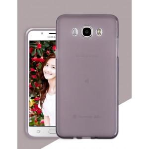 Силиконовый матовый полупрозрачный чехол для Samsung Galaxy J5 (2016) Серый