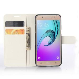 Чехол портмоне подставка с защелкой для Samsung Galaxy J5 (2016) Белый