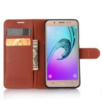 Чехол портмоне подставка с защелкой для Samsung Galaxy J5 (2016) Коричневый