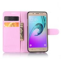 Чехол портмоне подставка с защелкой для Samsung Galaxy J5 (2016) Розовый