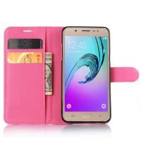 Чехол портмоне подставка с защелкой для Samsung Galaxy J5 (2016) Пурпурный