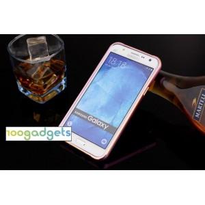 Металлический бампер с золотой окантовкой для Samsung Galaxy J5 (2016)