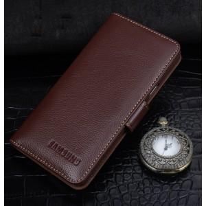 Кожаный чехол портмоне (нат. кожа) для Samsung Galaxy J5 (2016)