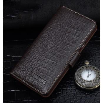 Кожаный чехол портмоне (нат. кожа крокодила) для Samsung Galaxy J5 (2016)