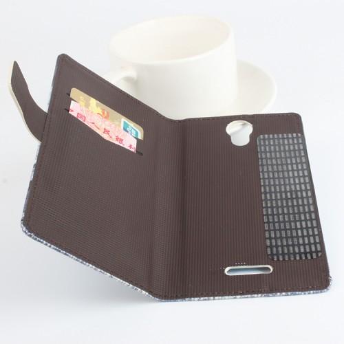 Дизайнерский чехол портмоне подставка с полноповерхностным принтом на клеевой основе с отделением для карт для Doogee X6